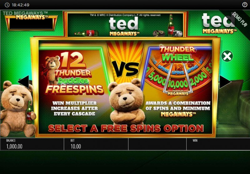 Ted Megaways :: Free Spin Feature Rules