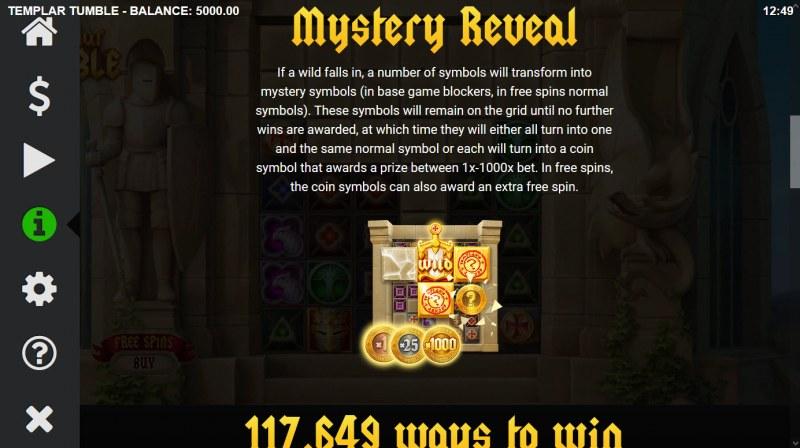Templar Tumble :: Mystery Feature