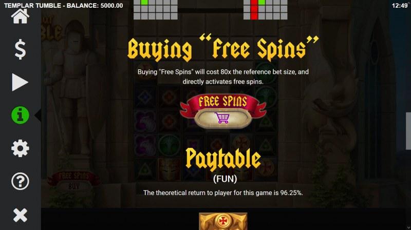 Templar Tumble :: Buy Feature