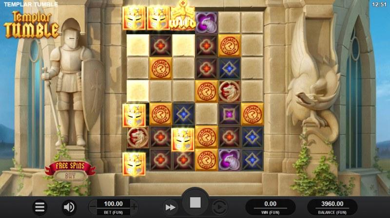 Templar Tumble :: Multiple winning combinations