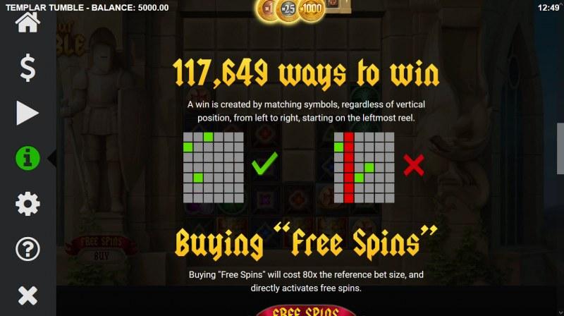 Templar Tumble :: 117649 Ways to Won