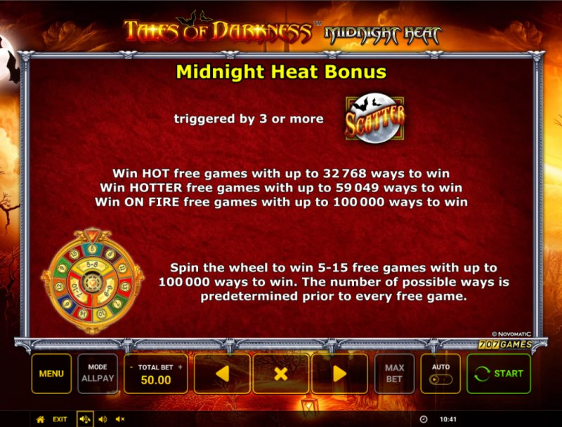 Temple of Darkness Midnight Heat :: Scatter Symbol Rules