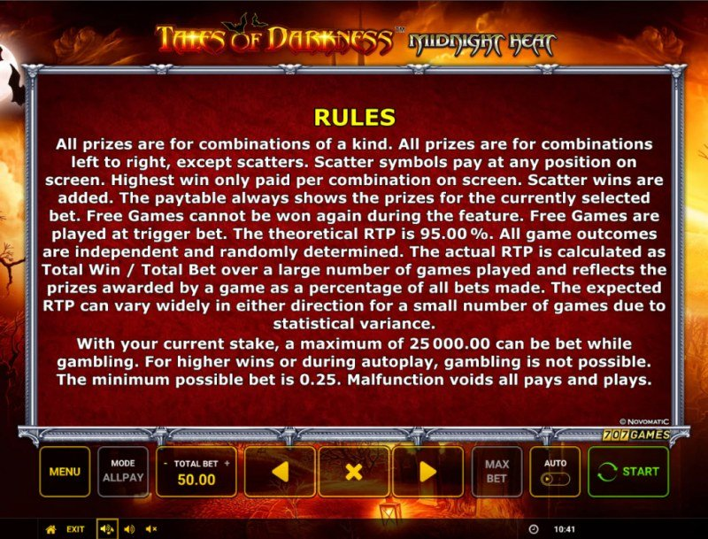 Temple of Darkness Midnight Heat :: General Game Rules