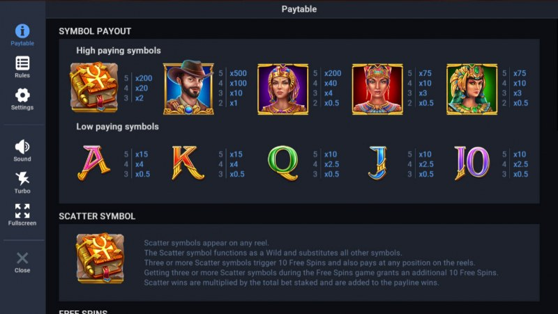 Temple of Dead :: Paytable