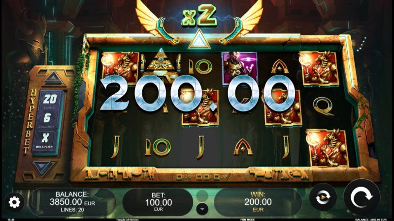 Temple of Heroes :: Multiple winning paylines