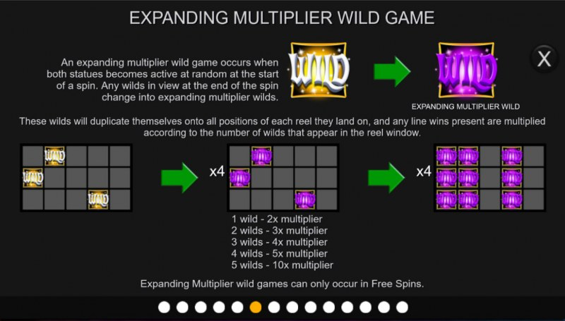 Temple of Light :: Expanding Wild Multiplier Game