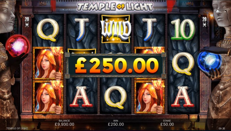Temple of Light :: Multiple winning combinations lead to a big win