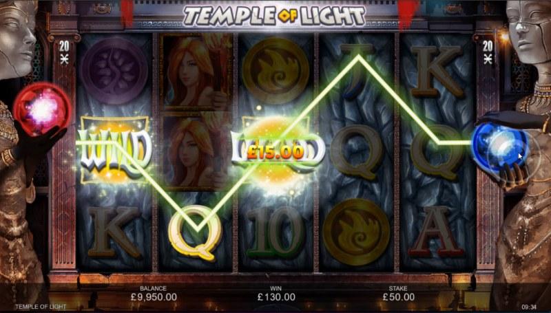 Temple of Light :: Multiple winning paylines