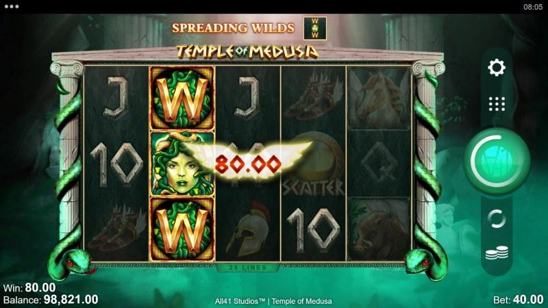 Temple of Medusa :: Multiple winning paylines