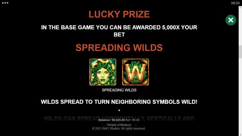 Temple of Medusa :: Spreading Wilds