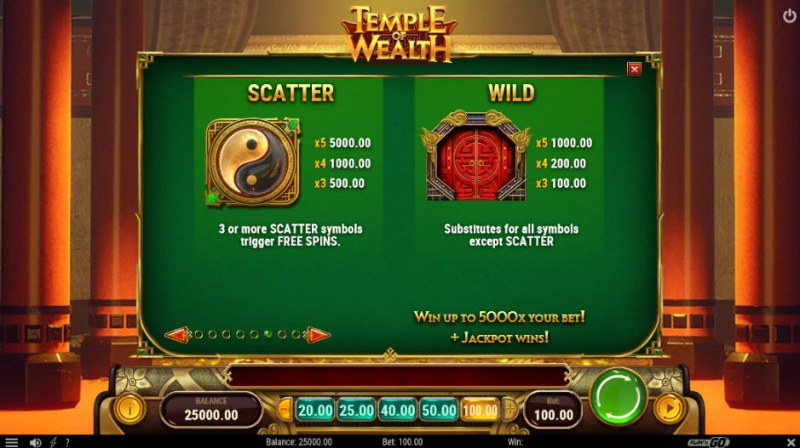 Temple of Wealth :: Wild and Scatter Rules