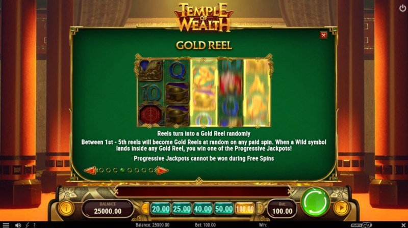 Temple of Wealth :: Gold Reel