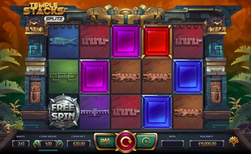Play slots at Win Windsor: Win Windsor featuring the Video Slots Temple Stacks Splitz with a maximum payout of $500,000