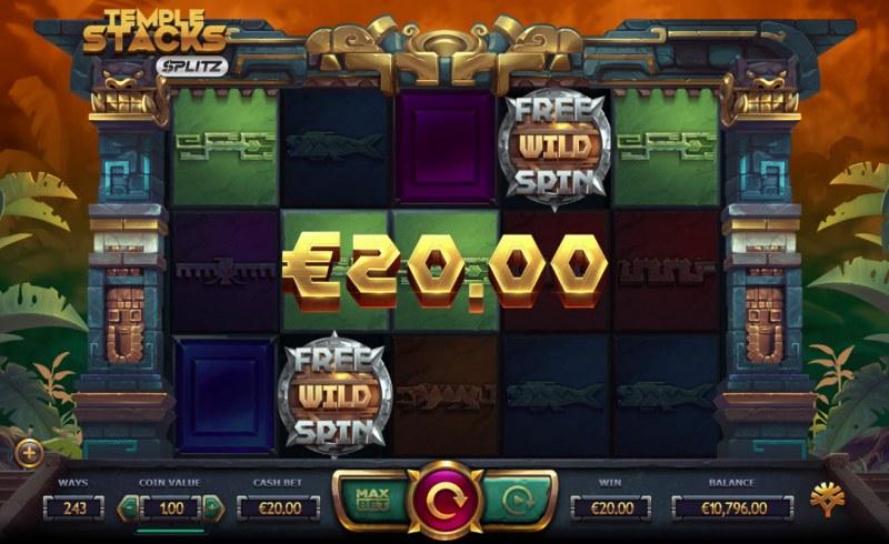 Temple Stacks Splitz :: Multiple winning combinations