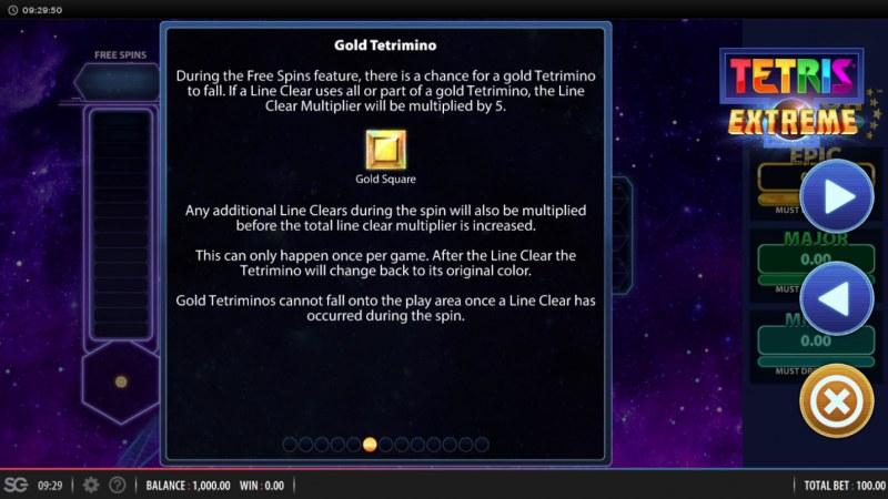 Tetris Extreme :: Gold Square