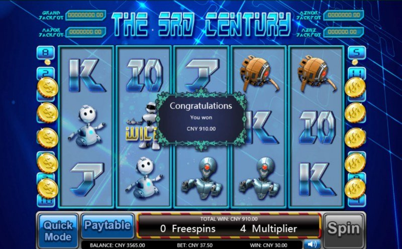 The 3rd Century :: Total free spins payout