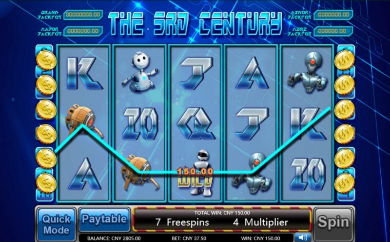 The 3rd Century :: Free Spins Game Board