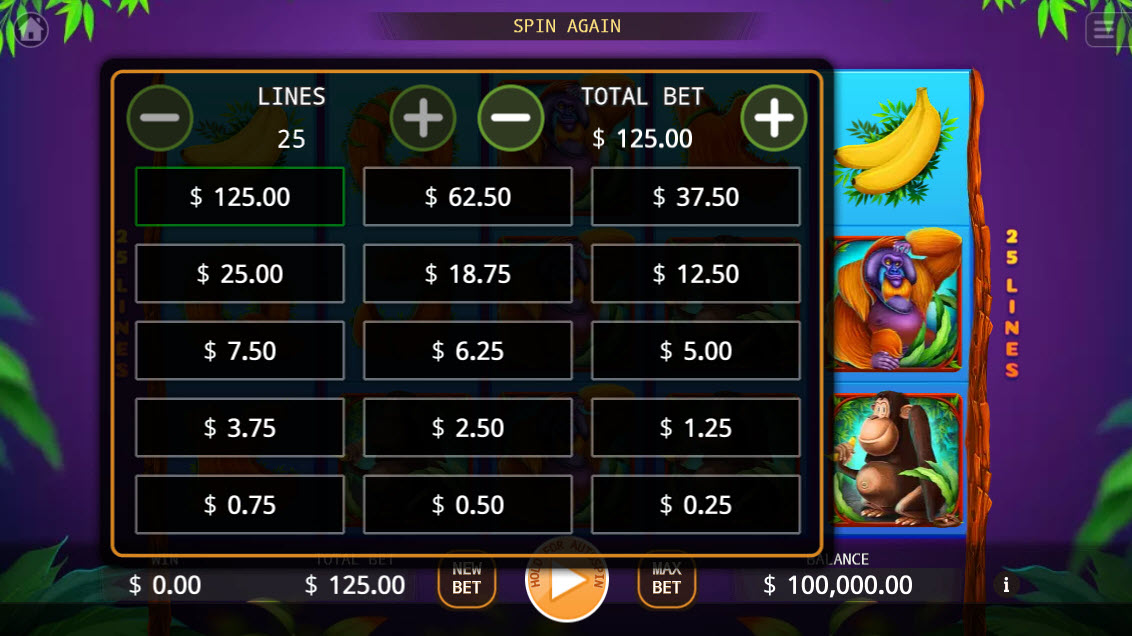 The Apes :: Available Betting Options