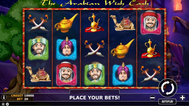 The Arabian Wish Cash :: Main Game Board