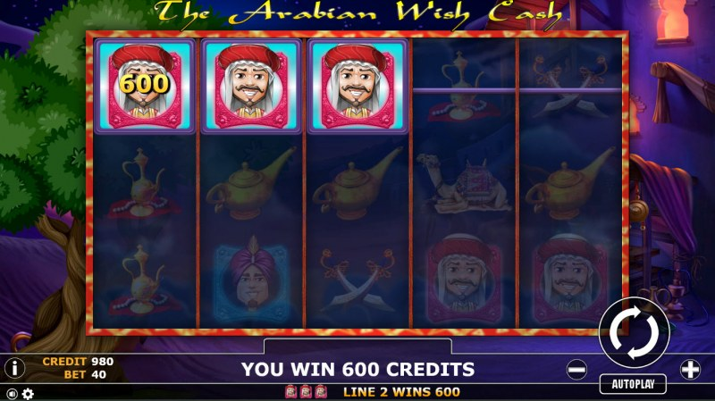 The Arabian Wish Cash :: 3 of a kind win