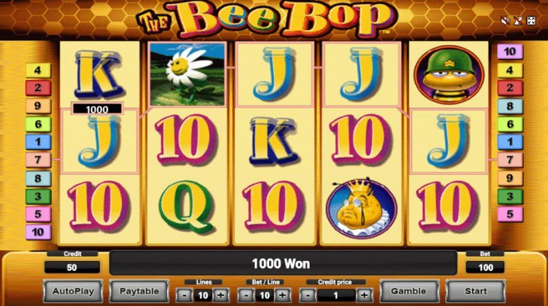 The Bee Bop :: A five of a kind win