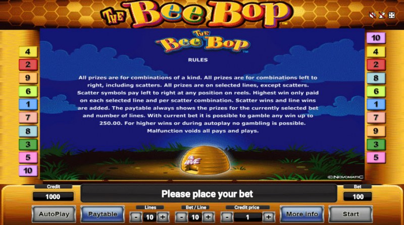 The Bee Bop :: General Game Rules