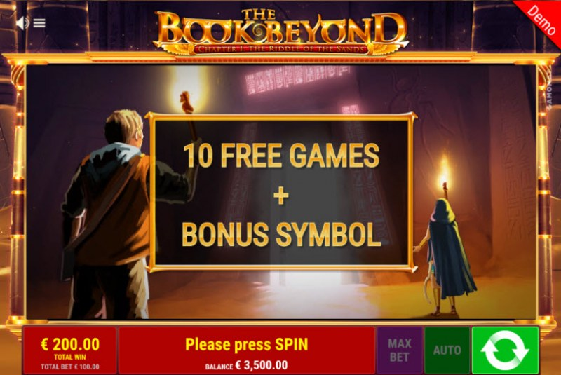 The Book Beyond The Riddle of the Sands :: 10 Free Spins Awarded