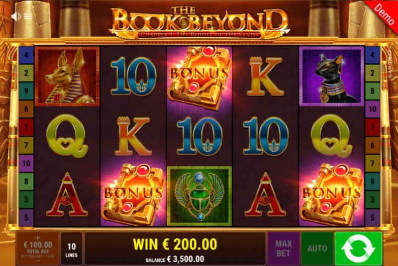 The Book Beyond The Riddle of the Sands :: Scatter symbols triggers the free spins feature