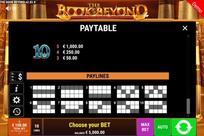 The Book Beyond The Riddle of the Sands :: Paylines 1-10