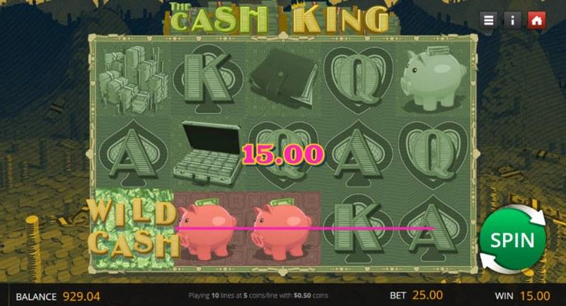 The Cash King :: Random wild triggers a three of a kind