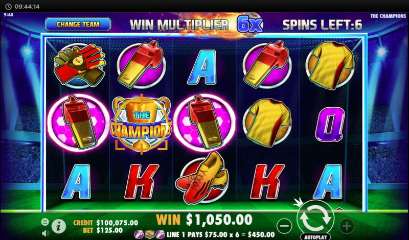 The Champions :: Multiple winning paylines