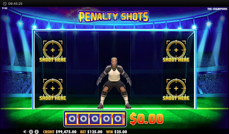 The Champions :: Select an area to shot the ball