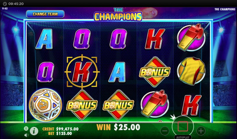 The Champions :: Scatter symbols triggers bonus feature