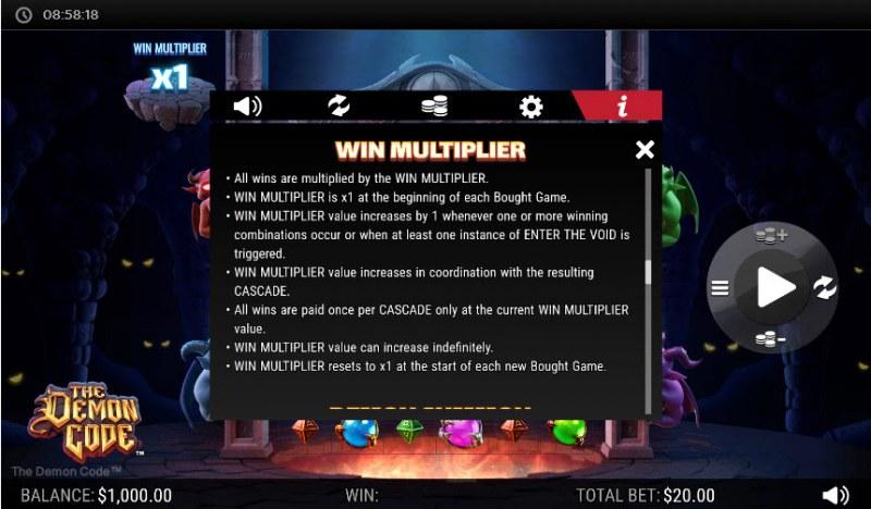 The Demon Code :: Win Multiplier