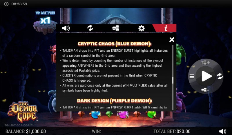 The Demon Code :: Cryptic Chaos