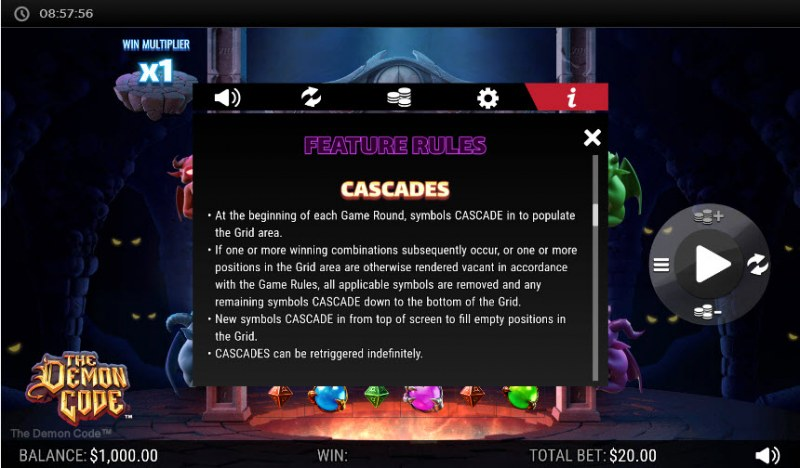 The Demon Code :: Reel Cascades