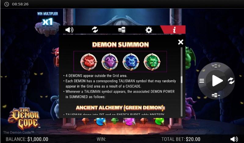 The Demon Code :: Reel Modifiers