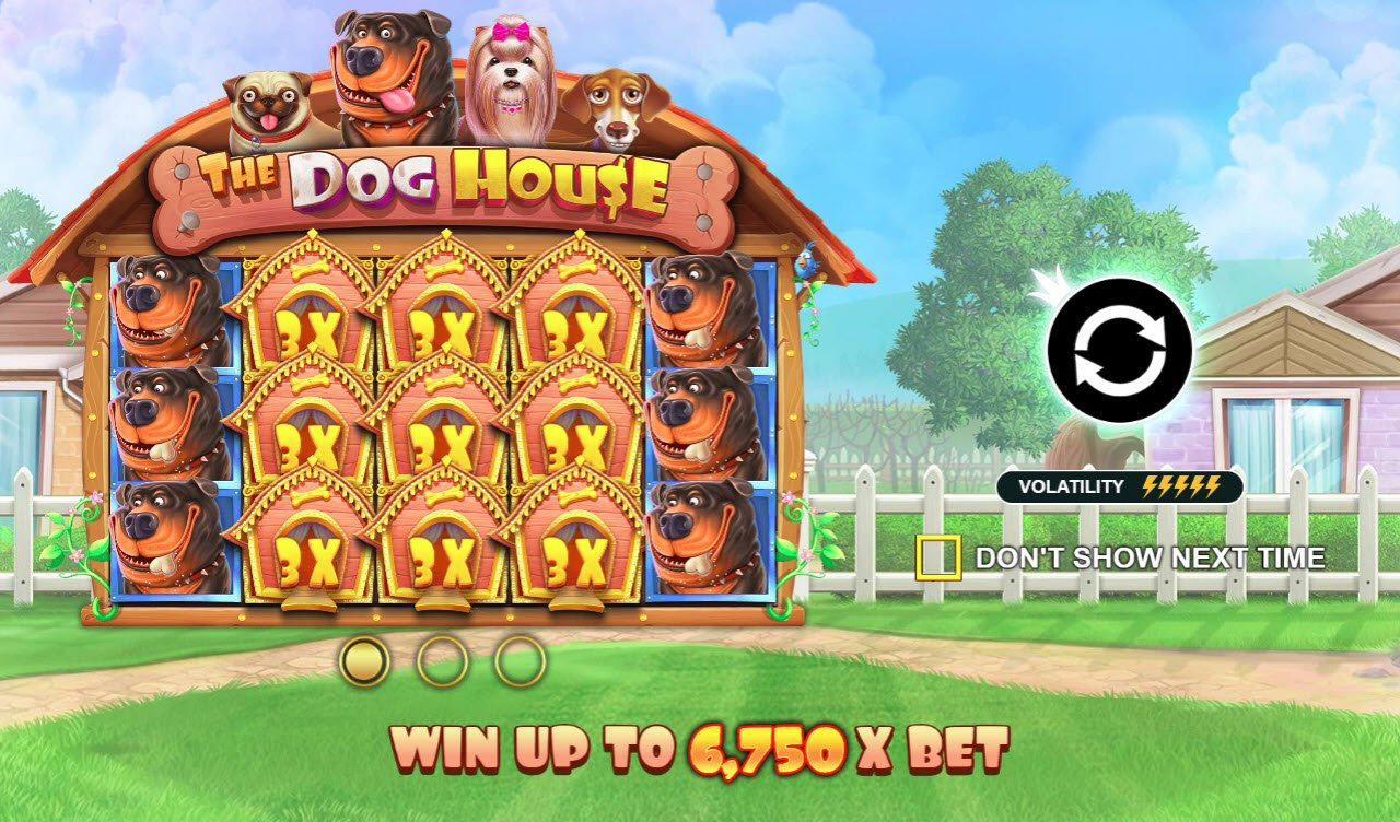 Play slots at Watch my Spin: Watch my Spin featuring the Video Slots The Dog House with a maximum payout of $675,000