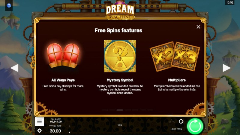 The Dream Machine :: Free Spin Feature Rules