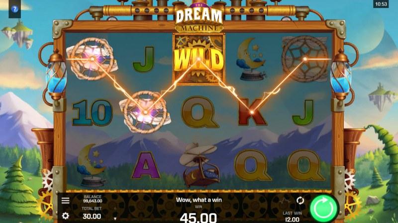 The Dream Machine :: A three of a kind win