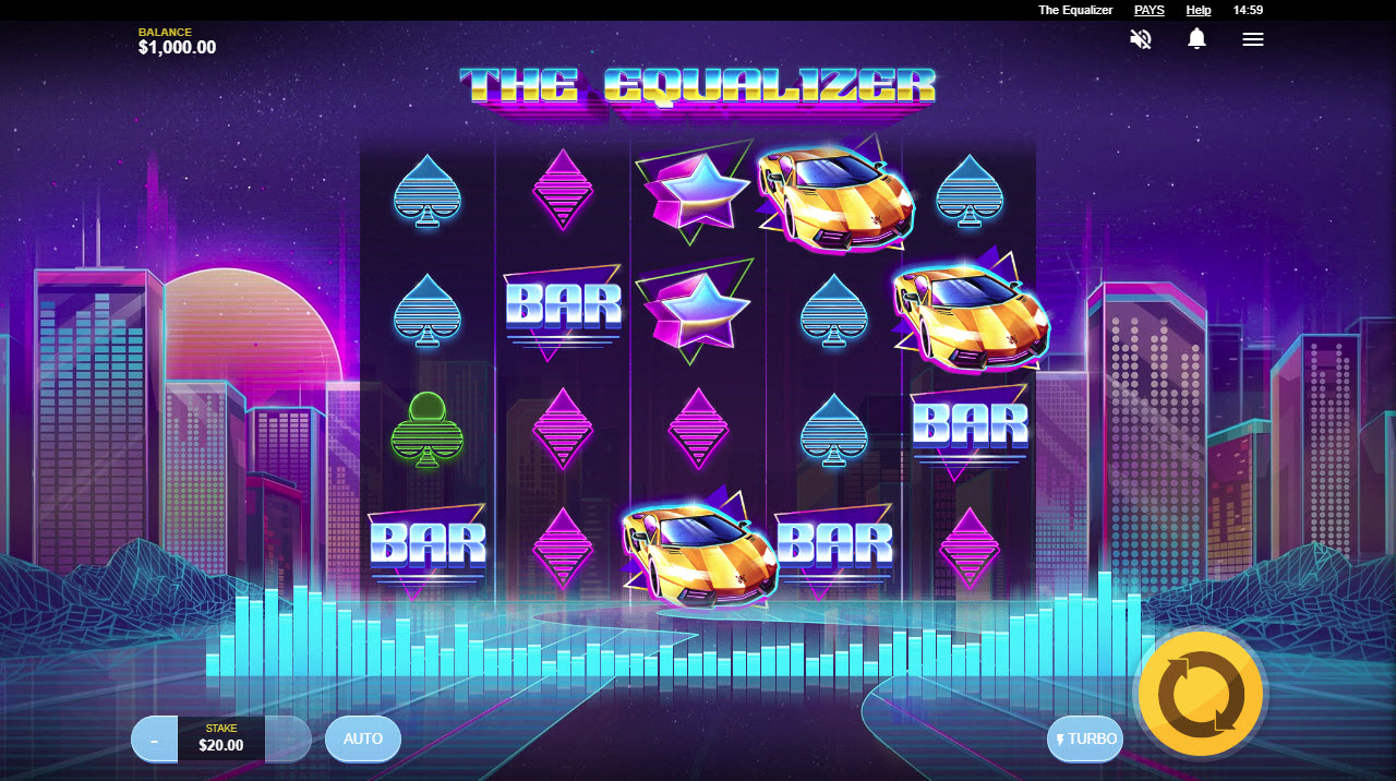 Play slots at Vegas Hero: Vegas Hero featuring the Video Slots The Equalizer with a maximum payout of $100,000