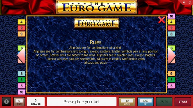 The Euro Game :: General Game Rules