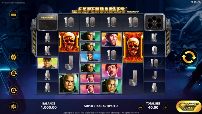 The Expendables Megaways :: Main Game Board