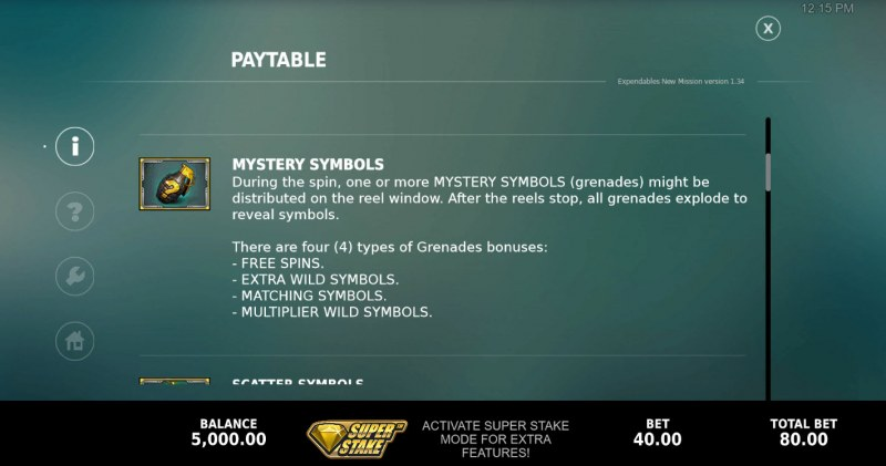 The Expendables New Mission Megaways :: Mystery Symbol