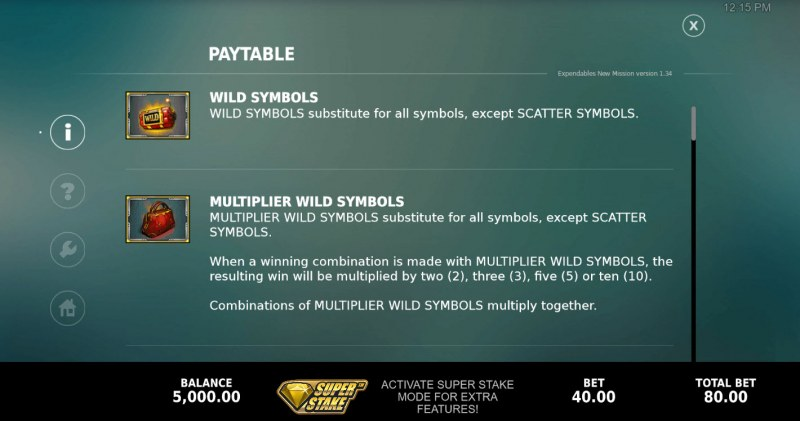The Expendables New Mission Megaways :: Wild Symbol Rules