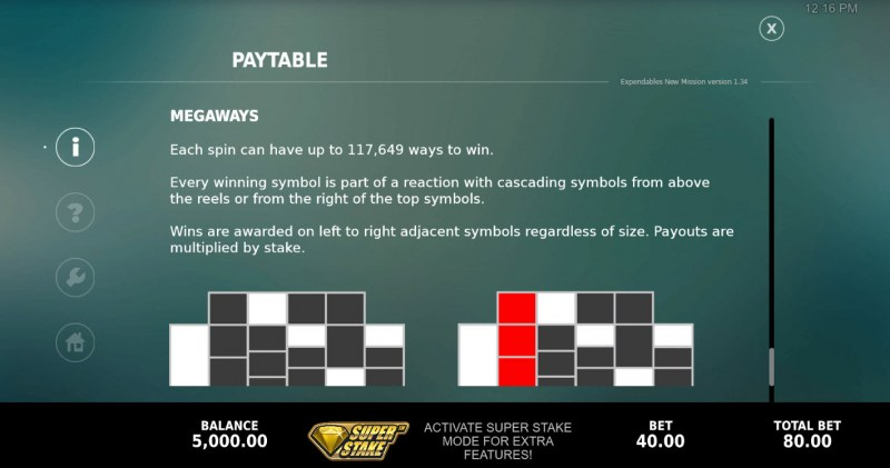 The Expendables New Mission Megaways :: Up to 117649 Megaways