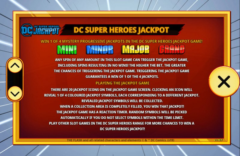 The Flash :: Jackpot Rules
