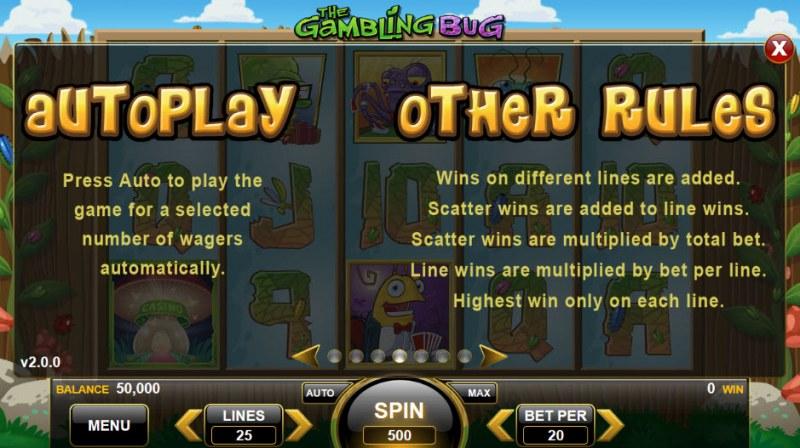 The Gambling Bug :: General Game Rules
