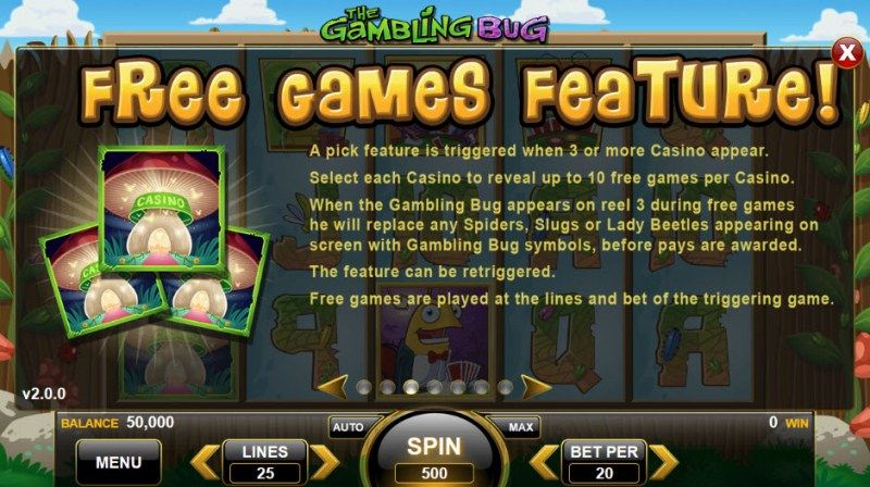 The Gambling Bug :: Free Spins Rules