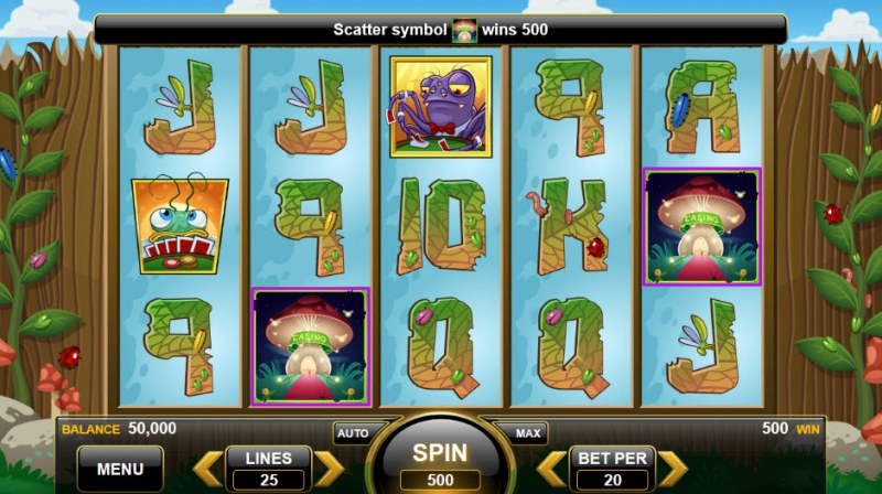 The Gambling Bug :: Scatter Win